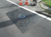 交差点付近の補修